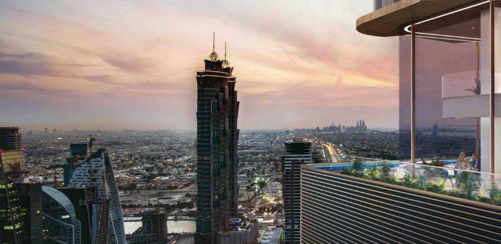 تشييد ناطحة سحاب دباوي الفندقية والسكنية على شارع الشيخ زايد بدبي