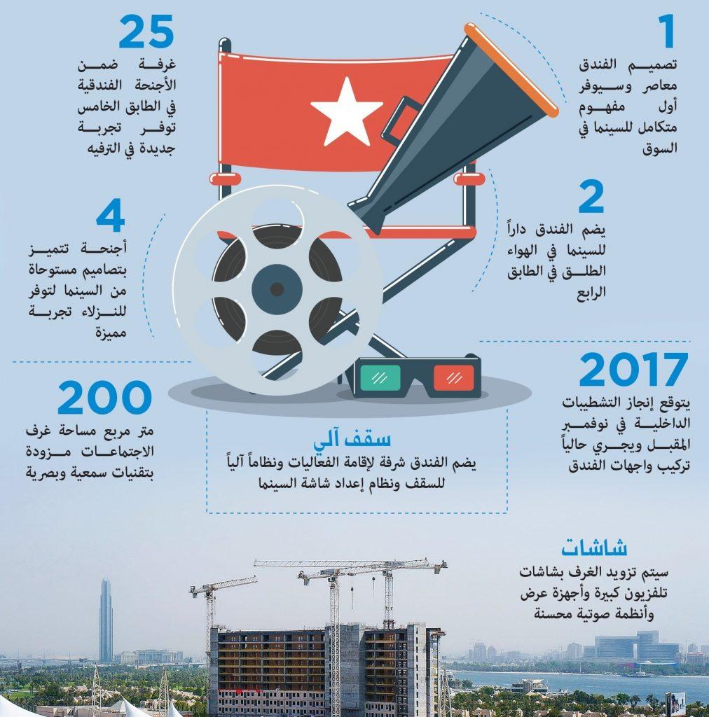 دبي تحتضن أعلى سينما بالهواء الطلق في العالم