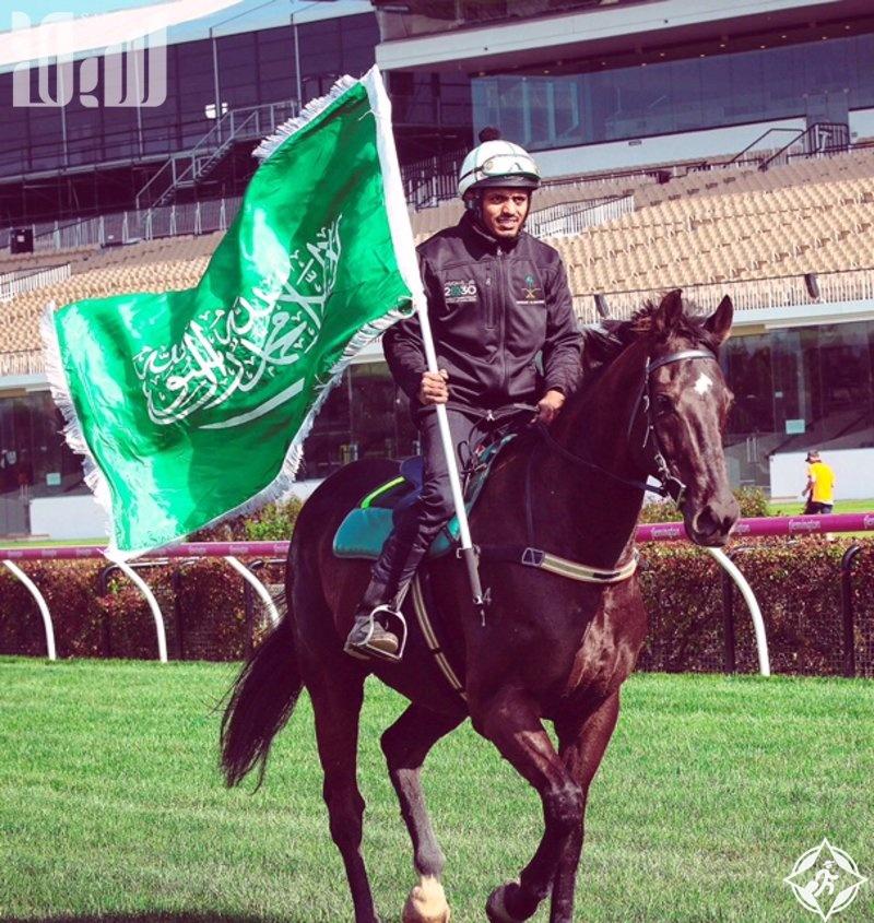 علم المملكة يزين أكبر ميدان للخيول بأستراليا