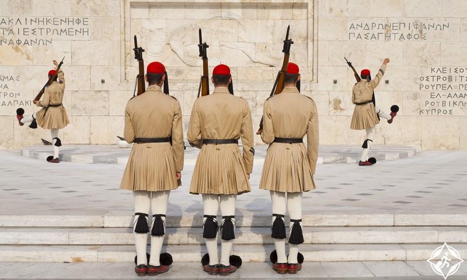 اليونان-أثينا-تغيير الحرس في ساحة سينتاجما