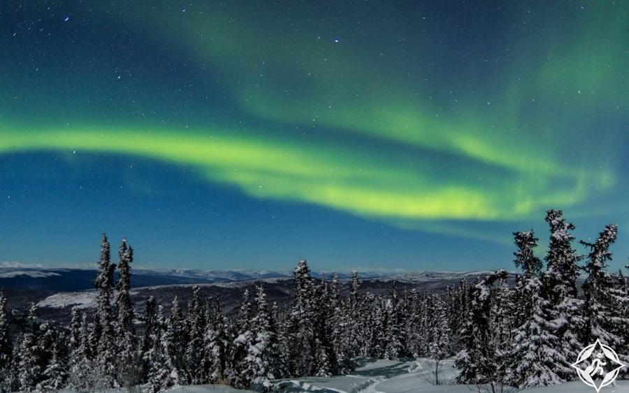 معالم الجذب السياحي في ألاسكا - الأضواء الشمالية