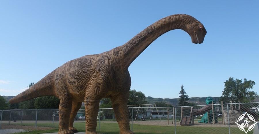 معالم الجذب السياحي في درومهيلر - ممر الديناصور