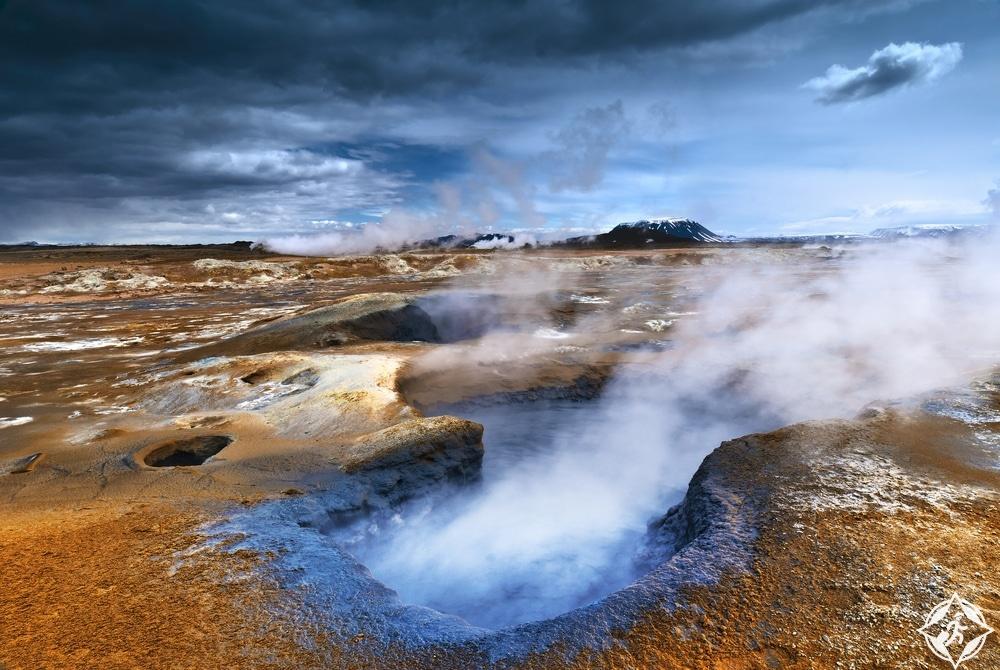 بركان كرافلا-شمال ايسلندا