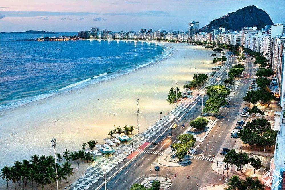 شواطئ البرازيل - شاطئ كوباكابانا