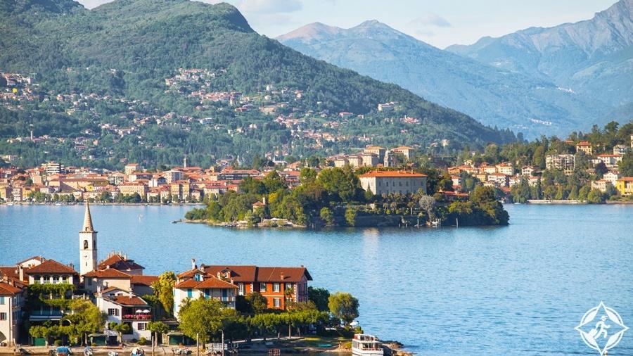 البحيرات في سويسرا - بحيرة ماجوري