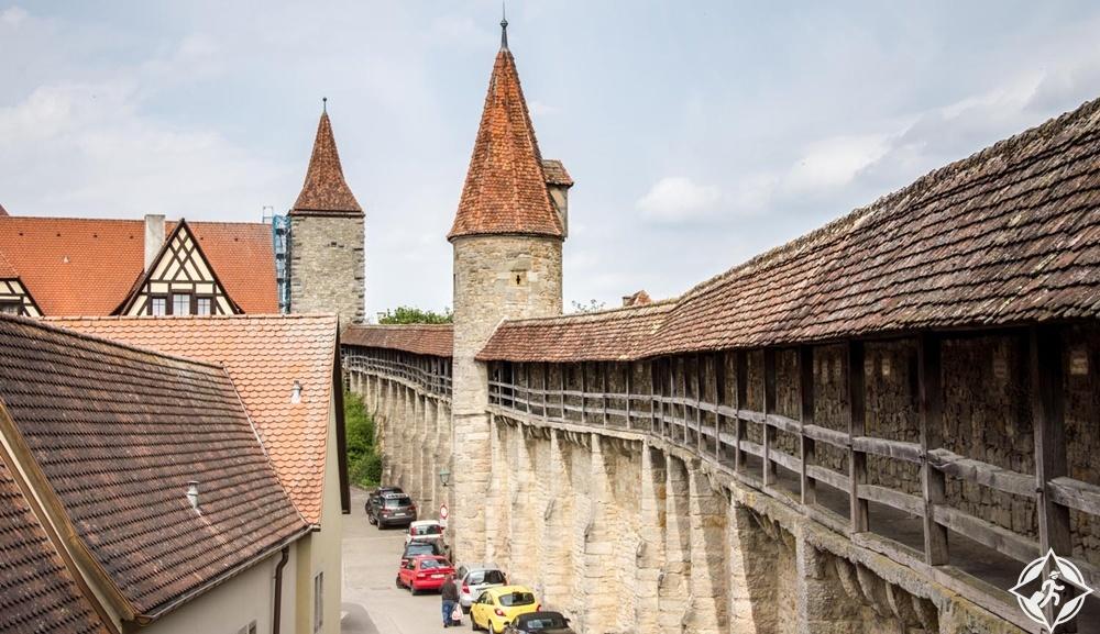 روتنبورغ أب دير تاوبر - جدران المدينة القديمة