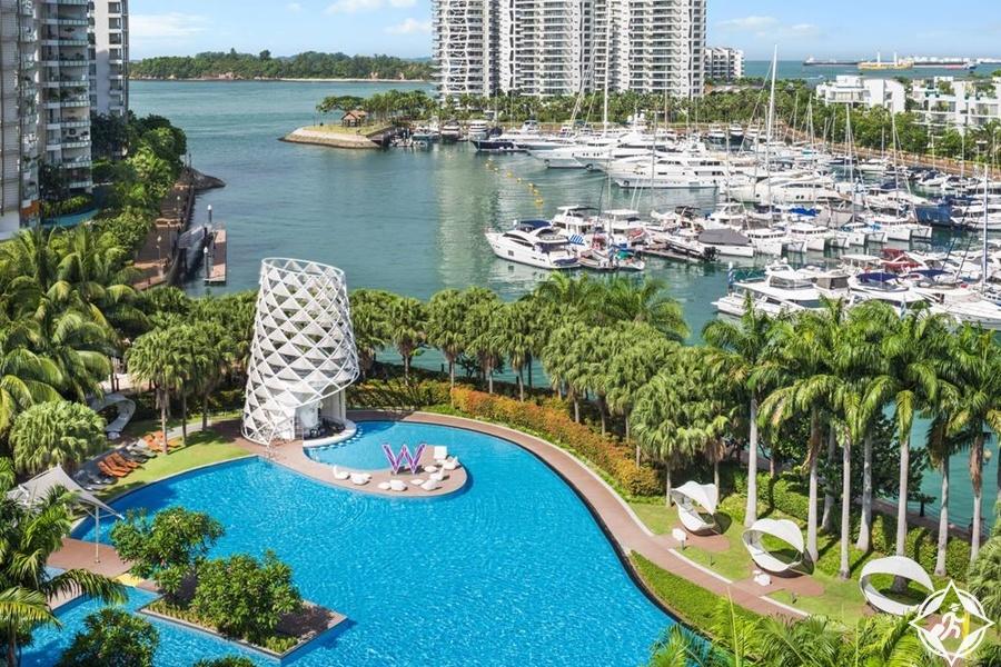 الفنادق الفاخرة في سنغافورة - دبليو سنغافورة - سنتوسا كوف
